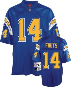 Dan Fouts 1982 throwback Chargers jersey.